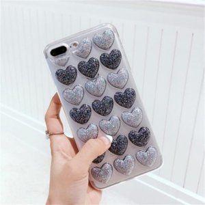 BOGO 50%off - iPhone 7/8/7+/8+/XS/X 3D Heart Case